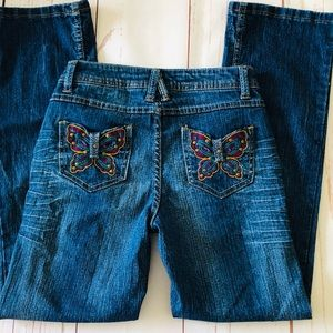 CATO embroider BUTTERFLY POCKET JEANS